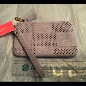 Wristlet leather lavender NEW